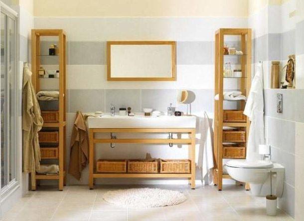 Мебель в интерьере скандинавского санузла