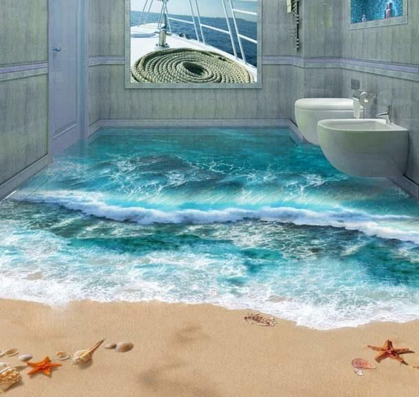 Морской рисунок для санузла