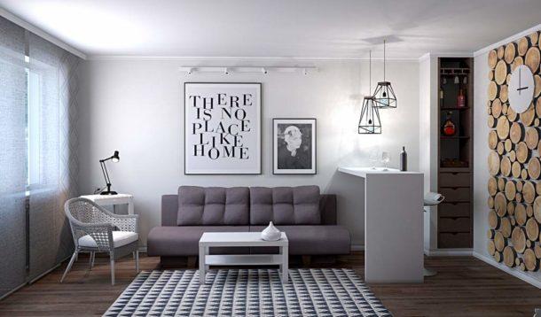 Белоснежные стены с продуманным декором