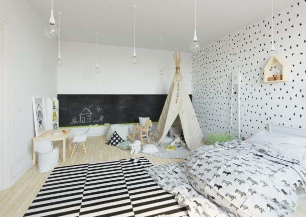 Натяжной потолок также допустим, при условии, что он будет белого цвета