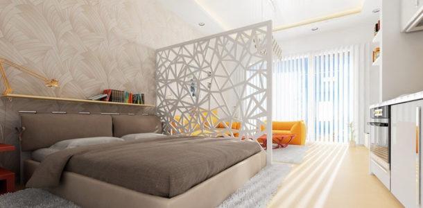 Чтобы разграничить пространство помещения, не обязательно возводить полноценные стены