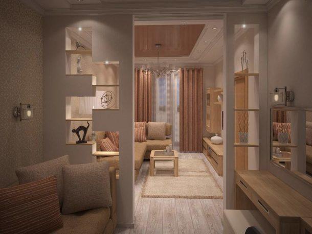 Зонируем комнаты с помощью конструкций из гипсокартона