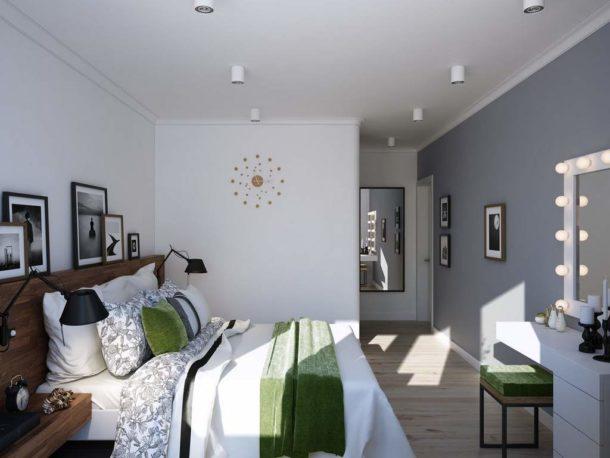 Все очень просто: потолок идеально белый, пол - светлое дерево