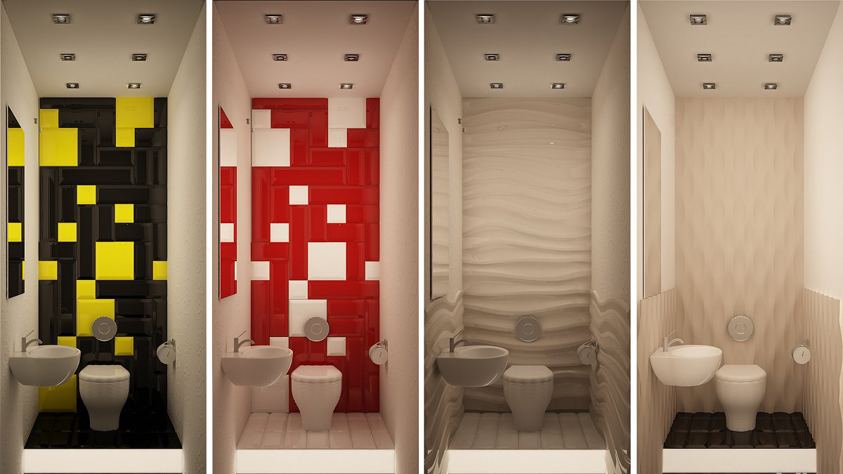 Фото дизайна маленьких туалетов