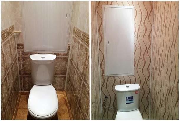 Ремонта туалета под ключ с ПВХ отделкой обойдется почти в 2 раза дешевле, чем с плиткой