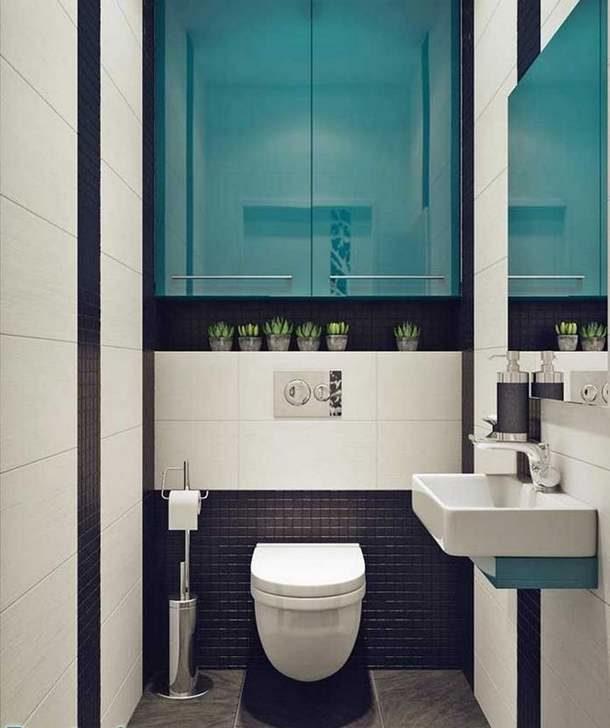 Шкафчики и полки в туалете не должны мешать