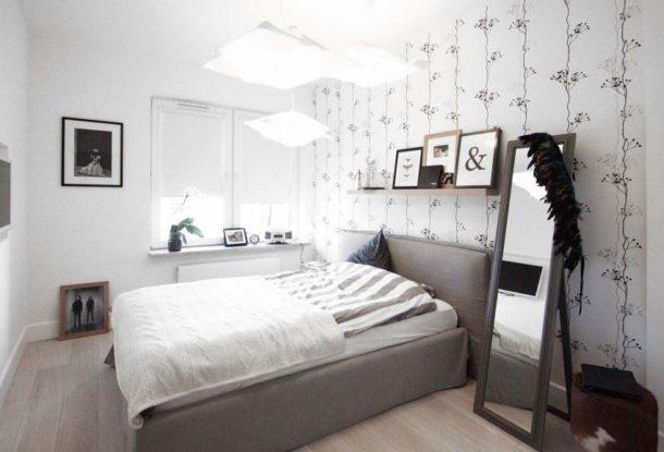 Спокойные обои с цветочным рисунком для скандинавской спальни