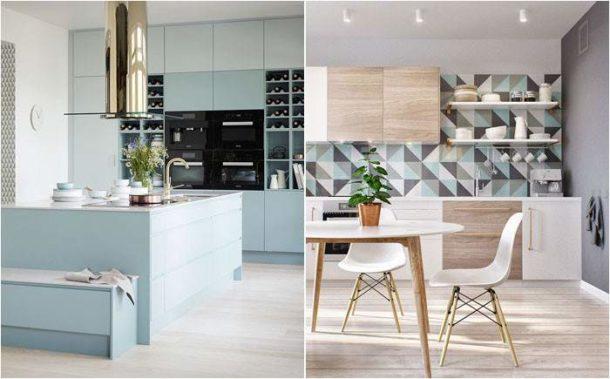 Стены кухни в современном скандинавском стиле