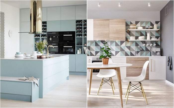 маленькая кухня в скандинавском стиле 10 фото интерьер