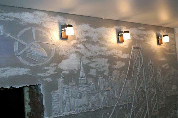 Светильники на стене для подсветки барельефа