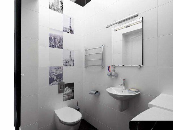 Применение светлой плитки для визуального расширения помещения