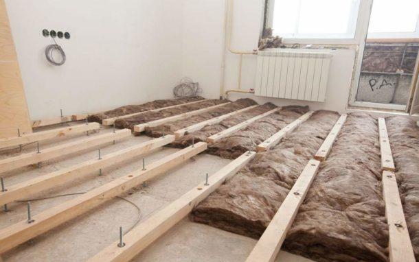 Лаговая конструкция позволяет организовать качественное утепление