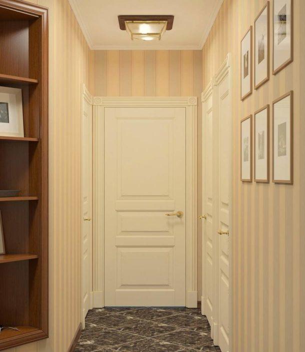 Вертикальные полосы в коридоре