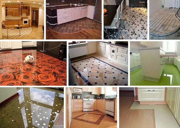 Многообразие вариантов покрытий для кухонного пола