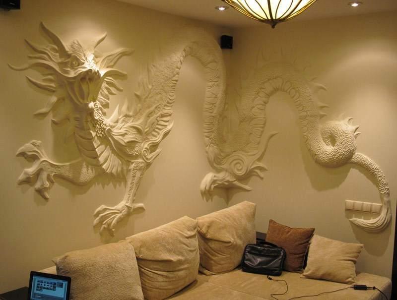 чем сделать рельеф на стене