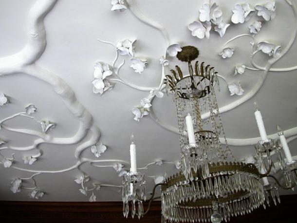 Фактурный потолок с переплетающимися ветвями