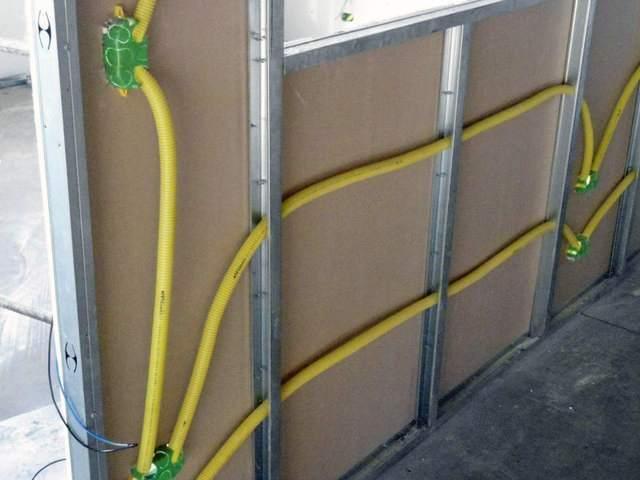 Проводка под гипсокартоном: прокладка провода в гкл, коробе .