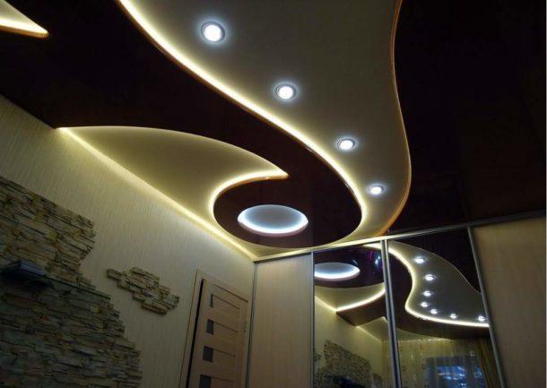 Двухуровневые потолочные конструкции из ГКЛ