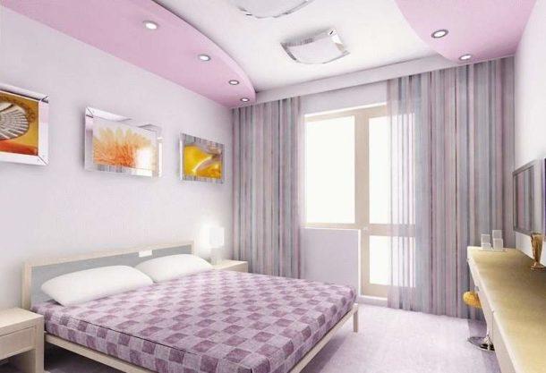 Создание двухуровневой конструкции из ГКЛ в маленькой спальне