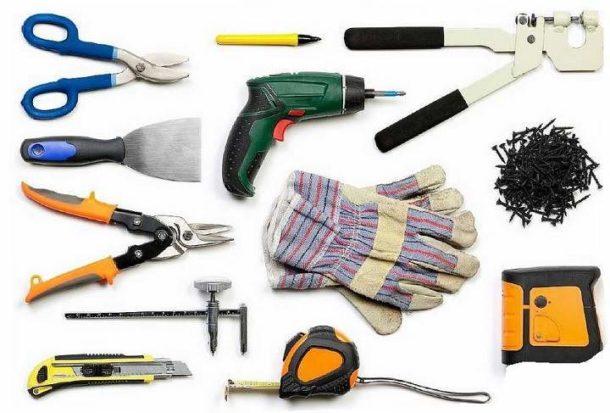 Набор инструментов для создания перегородки из ГКЛ