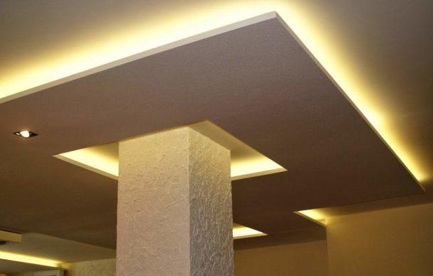 С помощью подветки гипсокартонных конструкций можно добиться потрясающих эффектов