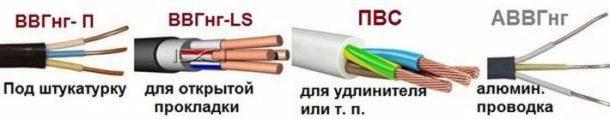 Выбираем провод типа ВВГ