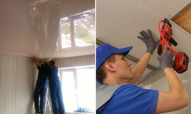 Разбираемся, какой материал выбрать для потолка: натяжное полотно или ГКЛ