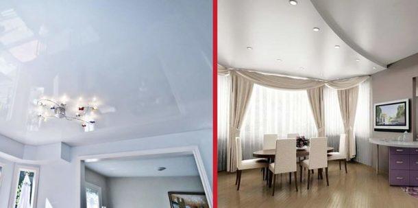 Принимать окончательное решение по выбору потолка нужно, отталкиваясь от конкретных условий