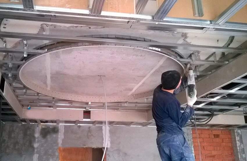 Как сделать двухуровневые потолки из гипсокартона и натяжного 830