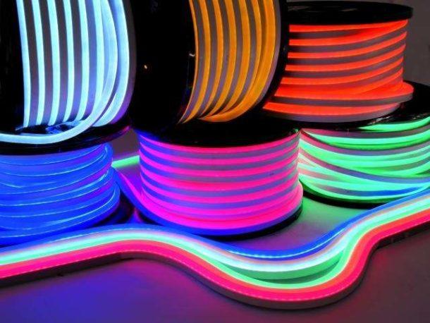 Неоновые шнуры для потолочной подсветки