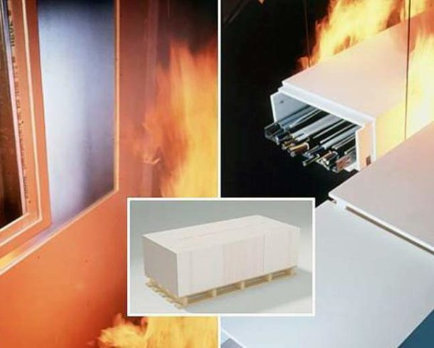 Гипсоволокно отличается повышенной огнестойкостью