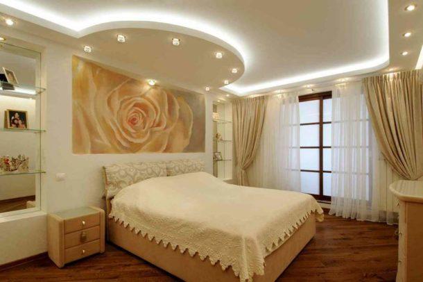«Парящий» потолок из гипсокартона