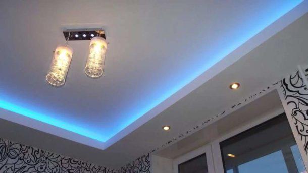 Пример достаточно простой двухуровневой конструкции с подсветкой
