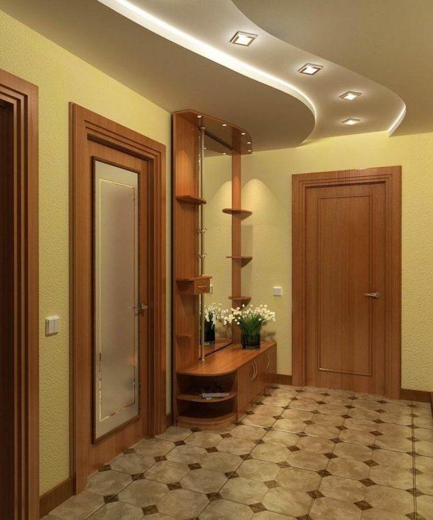 Гипсокартонные потолки в прихожей: выбираем дизайн