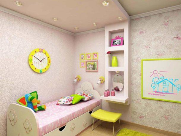 Делаем гипсокартонный потолок в детской спальне
