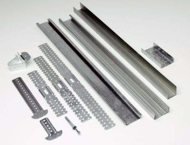 Профили, направляющие и подвесы для монтажа подвесной конструкции