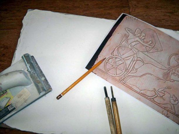 Выбор изображения и работа над эскизом