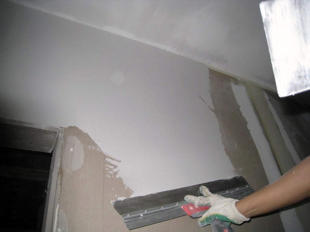 Шпаклевка потолка гипсокартона своими руками