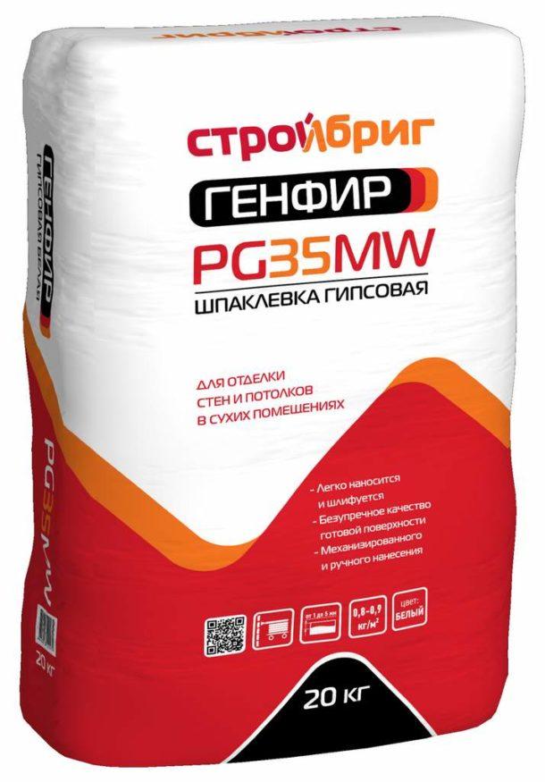 Шпатлевку «ГЕНФИР PG 35 MW» производитель рекомендует для заделки швов