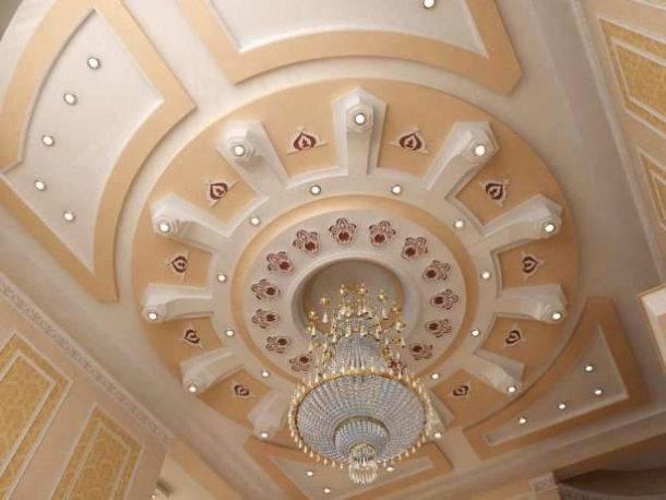 Сложная потолочная конструкция из ГКЛ - настоящее произведение искусства