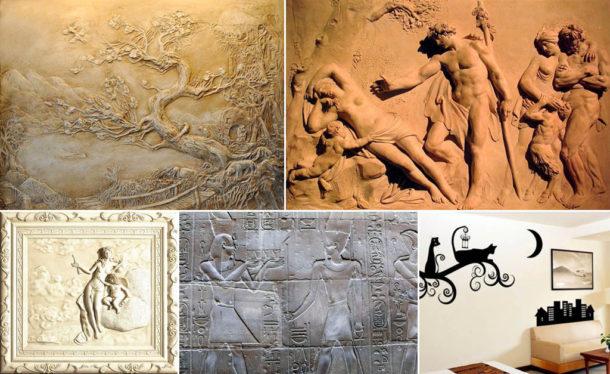 Разновидности барельефных изображений