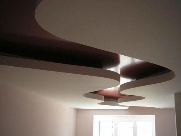 Один из вариантов комбинированной конструкции потолка