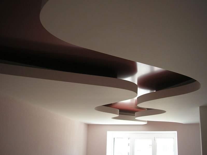 Комбинированный потолок из гипсокартона и натяжного потолка своими руками 731