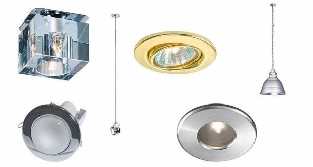 Разновидности точечных осветительных приборов