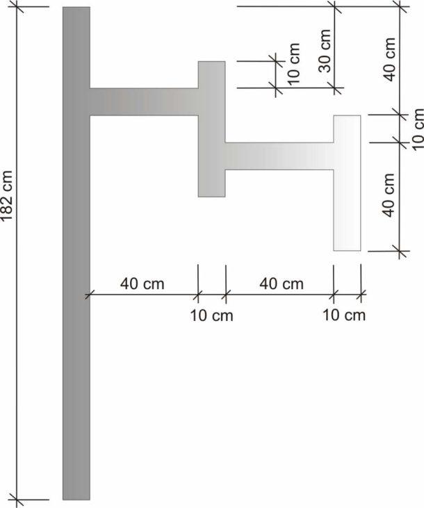 Схема полки из ГКЛ для ванной