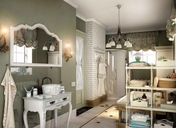 Декорирование ванной во французском стиле