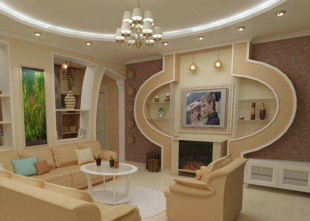 Возможности гипсокартона при отделке потолков и стен