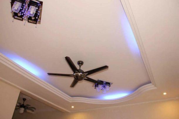 Гипсокартонный потолок в узкой комнате