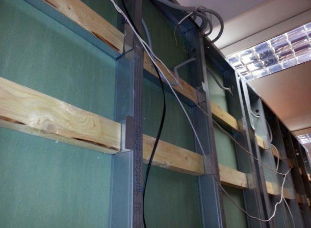 Использование закладных для крепления шкафчиков на стены из ГКЛ