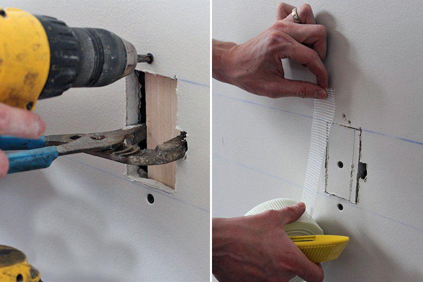 как заделать дырку в потолке из гипсокартона